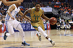 11 March 2016: Notre Dame's Demetrius Jackson (11) and North Carolina's Joel Berry II (2). The University of North Carolina Tar Heels played the University of Notre Dame Fighting Irish at the Verizon Center in Washington, DC in the Atlantic Coast Conference Men's Basketball Tournament semifinal and a 2015-16 NCAA Division I Men's Basketball game. UNC won the game 78-47.