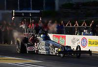 May 18, 2012; Topeka, KS, USA: NHRA top fuel dragster driver Bob Vandergriff Jr during qualifying for the Summer Nationals at Heartland Park Topeka. Mandatory Credit: Mark J. Rebilas-