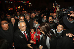 Palestinian Prime Minister Salam Fayyad attends the lighting ceremony of a Christmas tree in the village of Beit Sahour near the West Bank city of Bethlehem on 20 December 2012. Photo by Mustafa Abu Dayeh