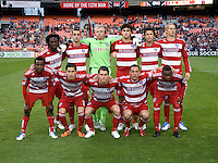 FC Dallas lines up before the game at RFK Stadium in Washington, DC.  D.C. United tied FC Dallas, 0-0.
