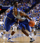 Freshman guard marquis teague dribbles past Sophomore guard Doron Lamb during the first half of the UK Blue-White Scrimmage at Rupp Arena in Lexington, Ky., Oct. 26, 2011. Photo by Brandon Goodwin | Staff