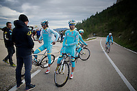 Michele Scarponi (ITA/Astana) & teammates on the Coll de Rates (Alicante, Spain) at the 2015 Astana winter training camp