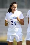 02 October 2011: Duke's Mollie Pathman. The Duke University Blue Devils defeated the Virginia Tech Hokies 1-0 at Koskinen Stadium in Durham, North Carolina in an NCAA Division I Women's Soccer game.