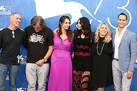 VENICE, ITALY - SEPTEMBER 09: Emir Kusturica, Monica Bellucci and Slobodan Micalovic, producer Paula Vaccaro and producer Lucas Akoskin attends a photocall for 'On The Milky Road' during the 73rd Venice Film Festival at Palazzo del Casino on September 9, 2016 in Venice, Italy. <br /> CAP/GOL<br /> &copy;GOL/Capital Pictures /MediaPunch ***NORTH AND SOUTH AMERICAS ONLY***