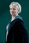 Linn Ullmann, Norwegian novelist, daughter of Ingmar Bergman and Liv Ullmann.  Edinburgh International Book Festival, Edinburgh, Scotland. Edinburgh is the inaugural UNESCO City of Literature.