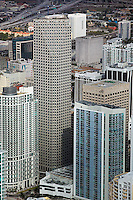aerial view above Wachovia Financial Center central business district downtown Miami Florida