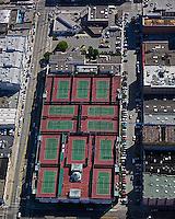 aerial photograph San Francisco Tennis Club rooftop tennis San Francisco, California