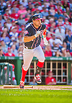 23 May 2015: Washington Nationals first baseman Ryan Zimmerman in action against the Philadelphia Phillies at Nationals Park in Washington, DC. The Phillies defeated the Nationals 8-1 in the second game of their 3-game weekend series. Mandatory Credit: Ed Wolfstein Photo *** RAW (NEF) Image File Available ***