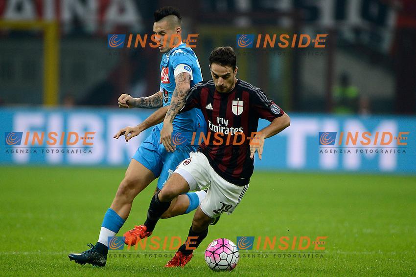 Giacomo Bonaventura Milan, Marek Hamsik Napoli<br /> Milano 4-10-2015 Stadio Giuseppe Meazza - Football Calcio Serie A Milan - Napoli. Foto Giuseppe Celeste / Insidefoto