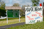 Anatone, Wash., population sign counting people, dogs, cats, and horses.
