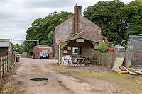 Snack Shop at High Crosby Farm, Hadrian's Wall Path, near Carlisle, England, UK.