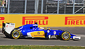 Marcus Ericsson (Sweeden)  at the wheel of his Sauber F1 C34  at the 3rd practice run during the 2015 Formula 1 Grand Prix of Canada