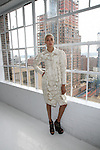 Model Wearing Designs by Edwing D'Angelo at Edwing D'Angelo Spring Summer 2014 Presentation Held at Studio 450, NY
