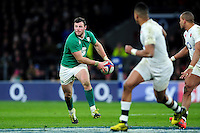 Robbie Henshaw of Ireland looks to pass the ball. RBS Six Nations match between England and Ireland on February 27, 2016 at Twickenham Stadium in London, England. Photo by: Patrick Khachfe / Onside Images