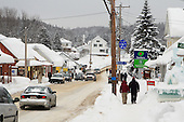 The town of St-Come, Quebec in the month of February
