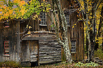Hillsborough Lower Village, Fall foliage, NH