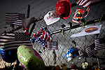 A makeshift memorial has formed outside Fire Station 7 in Prescott, Arizona, July 2, 2013, the home of the 19 Granite Mountain Hotshots who perished in the Yarnell Fire Sunday.