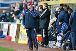 Kilmarnock v St Johnstone....03.03.12   SPL.Kenny Shiels turns away from the game.Picture by Graeme Hart..Copyright Perthshire Picture Agency.Tel: 01738 623350  Mobile: 07990 594431