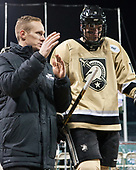 Chris McKelvie (Army - Assistant Head Coach), Dominic Franco (Army - 11) - The Bentley University Falcons defeated the Army West Point Black Knights 3-1 (EN) on Thursday, January 5, 2017, at Fenway Park in Boston, Massachusetts.The Bentley University Falcons defeated the Army West Point Black Knights 3-1 (EN) on Thursday, January 5, 2017, at Fenway Park in Boston, Massachusetts.