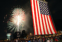 Joe Imel/Daily News    FOURTH 1   More than 1,000 people(?) watch fireworks Tuesday at the Guthrie Bell Tower at Western Kentucky University for the second annual Star Spangled Spectacular.