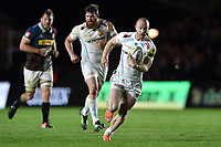 James Short of Exeter Chiefs goes on the attack. Aviva Premiership match, between Harlequins and Exeter Chiefs on April 14, 2017 at the Twickenham Stoop in London, England. Photo by: Patrick Khachfe / JMP