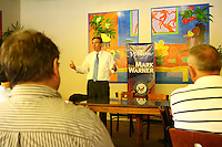 Senator Mark Warner campaigning for Creigh Deeds running as the democratic nominee for the Virginia Governor in Charlottesville, VA.