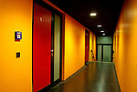 yellow and red passage way