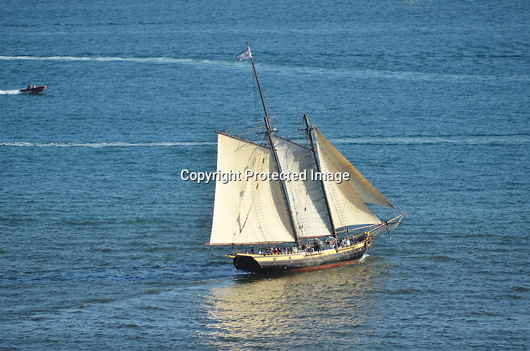 Royalty Free stock photo of a schooner