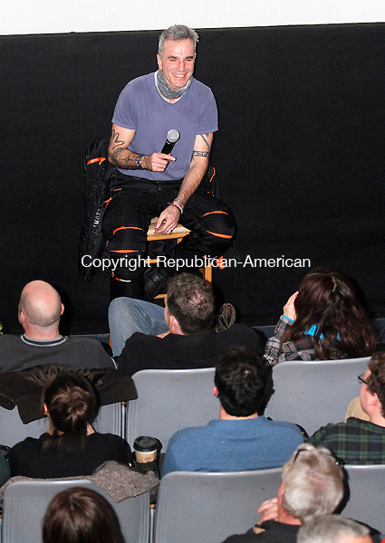 LITCHFIELD, CT- 08 DECEMBER 2012 120812JW04 - Actor Daniel Day-Lewis reacts to a question from an audience member after they saw his latest film, Lincoln Saturday afternoon at Bantam Cinema..Jonathan Wilcox Republican American..