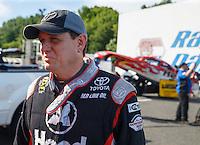 Jun 10, 2016; Englishtown, NJ, USA; NHRA funny car driver Chad Head during qualifying for the Summernationals at Old Bridge Township Raceway Park. Mandatory Credit: Mark J. Rebilas-USA TODAY Sports
