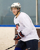 Matt Donovan (USA - 4) - Team USA practiced at the Agriplace rink on Monday, December 28, 2009, in Saskatoon, Saskatchewan, during the 2010 World Juniors tournament.