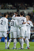 Real Madrid celebrate Callejon´s goal