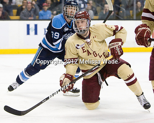 (Diamond) Patch Alber (BC - 3) - The Boston College Eagles defeated the University of Maine Black Bears 4-1 to win the 2012 Hockey East championship on Saturday, March 17, 2012, at TD Garden in Boston, Massachusetts.