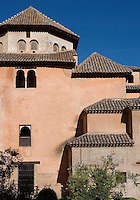 Exterior Façade, Palace of the Lions, 1362 ? 1391, Muhammad V, Nasrid Palaces, The Alhambra, Granada, Andalusia, Spain. Picture by Manuel Cohen
