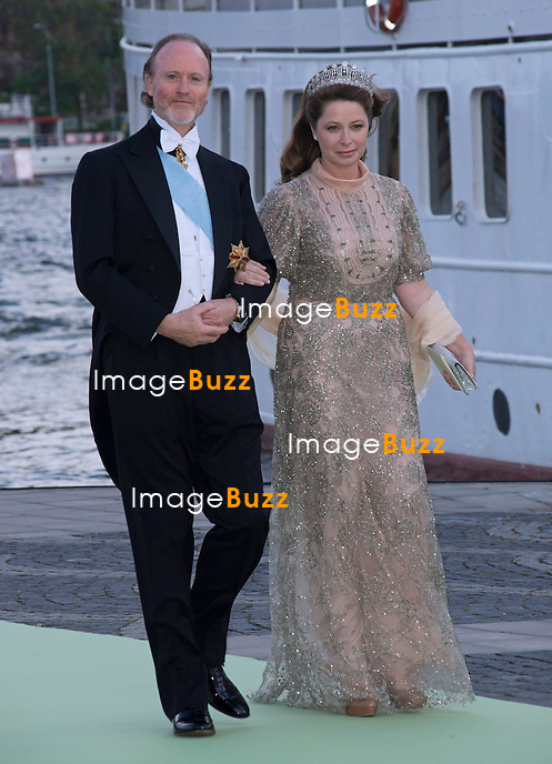 ROYAL GUESTS<br /> arrive at Riddarholmen Quay to board the boat to Drottingholm Palace for the Wedding Banquet following the wedding of Princess Madeleine and Christopher O'Neill, Riddarholmen, Stockholm, Sweden_08/06/2013<br /> Princess Madeleine married Christopher O'Neill at the Royal Chapel, Royal Palace in Stockholm
