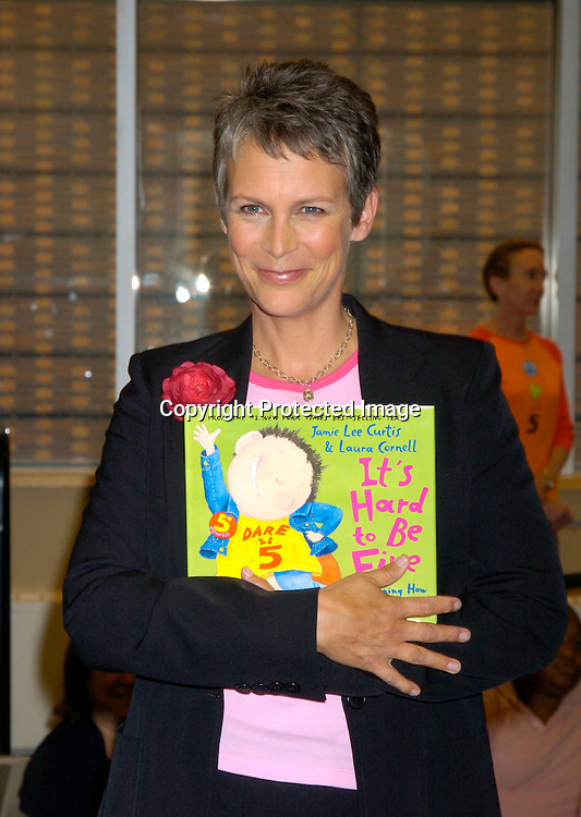 """Jamie Lee Curtis ..at at book signing for her new children's book """"It's Hard to Be Five"""" on September 7, 2004 at Barnes and Nobles ..at Lincoln Center. Photo by Robin Platzer, Twin Images"""