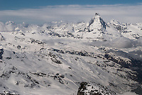 Beautiful Matterhorn Cervino stands alone