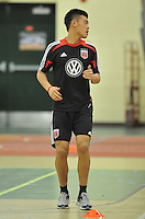 D.C. United forward Long Tan during the pre-season fitness training session at George Manson University before departing for Bradenton Florida to get ready for the 2013 season, Friday January 18, 2013.