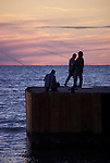 Fishermen on Bayfield Pier Bayfield Ontario
