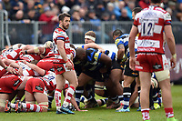 Greig Laidlaw of Gloucester Rugby looks on during a break in play. Aviva Premiership match, between Bath Rugby and Gloucester Rugby on April 30, 2017 at the Recreation Ground in Bath, England. Photo by: Patrick Khachfe / Onside Images