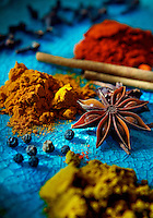 A display of home spices used by chef Christina Arokiasamy, author of The Spice Merchant's Daughter.