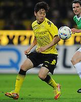 FUSSBALL   1. BUNDESLIGA   SAISON 2011/2012   23. SPIELTAG Borussia Dortmund - Hannover 96                        26.02.2012 Shinji Kagawa (Borussia Dortmund) Einzelaktion am Ball