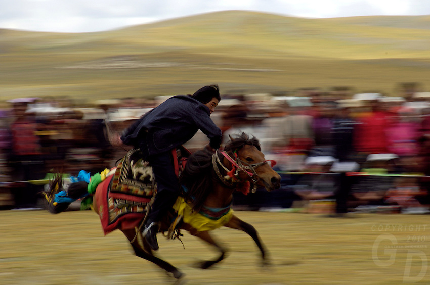 Tibet&rsquo;s province of Nakchu in Tibet hosts many festivals throughout the year, but one stands out more than any other; it is the highest horse racing festival in the world &ndash; a spectacle of colour, festivities and endurance for participants and visitors alike.<br /> Over 10,000 people will cross high passes of more than 4,000 metres by foot, horse and jeep to make their way to the Nakchu Racecourse, to race, eat, drink and make merry during this annual festival. This racecourse, at 4,500 metres, is undoubtedly the highest racecourse in the world.