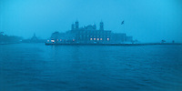 Ellis Island, New York City, New York, Statue of Liberty Nationl Monument, snow in winter