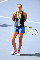 FLUSHING NY- AUGUST 27: Monica Puig during Arthur Ashe kids day at the USTA Billie Jean King National Tennis Center on August 27, 2016 in Flushing Queens. Photo byMPI04 / MediaPunch