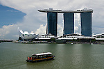 Marina Bay Sands hotel and resort with boat