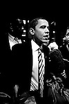 Democratic presidential hopeful Sen. Barack Obama (D-IL) holds a rally on February 2, 2007 in Fairfax, VA.
