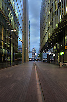 Modern buildings of More London Place with a tower of Tower Bridge visible in the far distance, Greater London, UK. Picture by Manuel Cohen