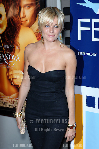 Actress SIENNA MILLER at the Los Angeles premiere of her new movie Casanova..November 13, 2005  Los Angeles, CA..© 2005 Paul Smith / Featureflash