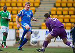 St Johnstone v Hibs....05.03.11 .Jamie Adams is denied by Mark Brown.Picture by Graeme Hart..Copyright Perthshire Picture Agency.Tel: 01738 623350  Mobile: 07990 594431